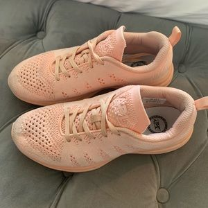 Women's APL shoes in peach